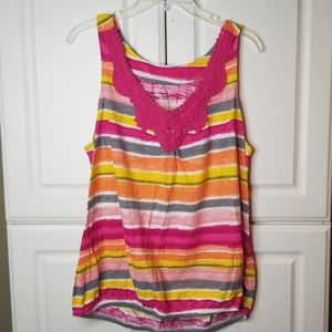 Lane Bryant colorful sleeveless top